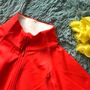 FILA Sport Orange Running Pullover Jacket